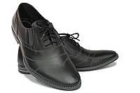 Классические туфли черного цвета на шнурке