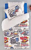 Подростковое постельное белье  KARACA HOME с гоночными машинками  RACING CAR