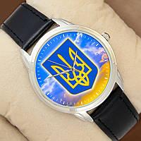 Часы с Гербом Украины от Perfect, серебристый корпус