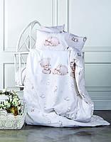 Детское постельное белье в кроватку  KARACA HOME SWEETY с медвежонком и зайкой.