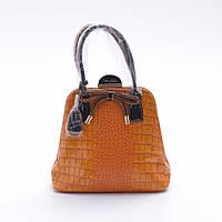 Элитная  женская сумка из экокожи Velina Fabbiano 55153 оранжевая