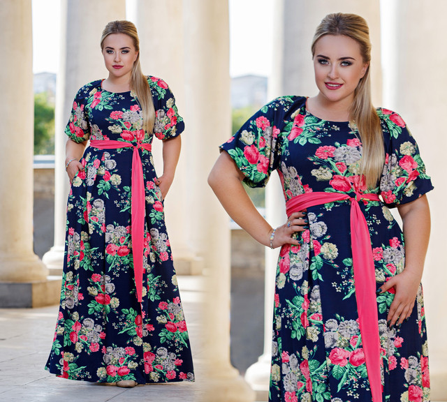 Платья длинные 52 размера