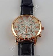 Часы Patek Philippe Sky Moon 7669 мужские золотистые с серебристым циферблатом календарь
