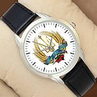 Часы  - З нами Бог і Україна, серебристый корпус, черный ремешок, Perfect