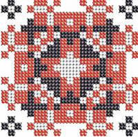 Схема на ткани для вышивания бисером Анатолий - имя закадированное в вышиванке КМР 7104