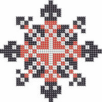 Схема на ткани для вышивания бисером Андрей - имя закадированное в вышиванке КМР 7105