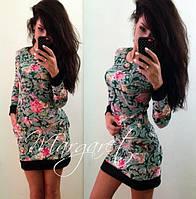 Женское стильное платье с узорами