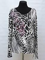 Жіноча   кофта -леопардова з трояндами