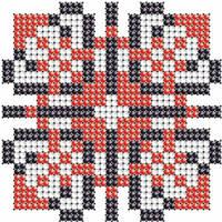 Схема на ткани вышивания бисером Валерия - имя закадированное в вышиванке КМР 7113