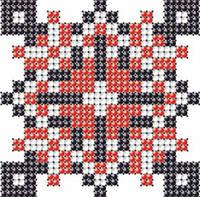 Схема на ткани для вышивания бисером Василий - имя закадированное в вышиванке КМР 7114