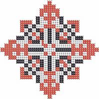 Схема на ткани для вышивания бисером Виталий - имя закадированное в вышиванке КМР 7118