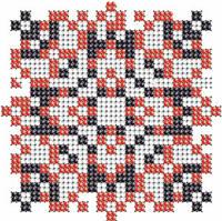 Схема на ткани для вышивания бисером Владимир - имя закадированное в вышиванке КМР 7119
