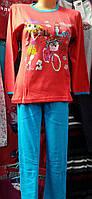 """Пижама для девочки """"Подросток"""" №122 (штаны)"""