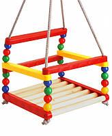 Качеля детская для дома деревянная 8731