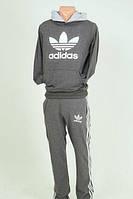 Спортивный мужской костюм adidas (осень,зима) - серый