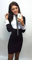 """Платье бело- черное офисное """"Марин- Нр01"""""""