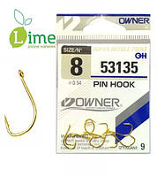 Крючки Owner Pin Hook Gold (уп. 7 шт)