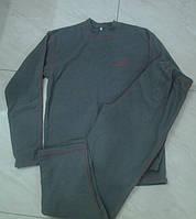 Теплый флисовый мужской костюм серого цвета размеры S,M