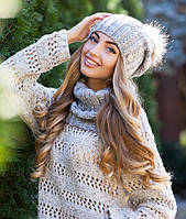 Зимний женский комплект «Эйфория» (шапка и шарф-хомут)
