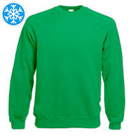 Утепленная мужская толстовка (реглан) зеленого цвета