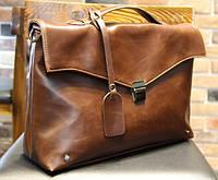 Вместительная мужская сумка. Сумка для документов, ноутбука. Высокое качество. Кожаная сумка. Код: КЕ160