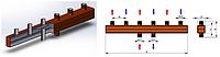 Распределительный коллектор с наружной резьбой на 3 отопительных контура ОКС-6-3-125-НР