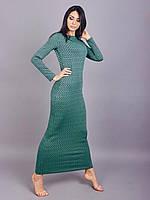 Женственное платье-миди из мягкой принтированой ткани