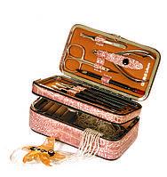 Набор инструментов для домашнего маникюра GLOBOS 8208-2 сиреневый