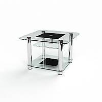 Квадратный стеклянный журнальный столик модель Барни