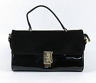 Женская сумка борсетка черная замшевая