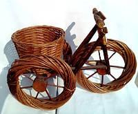 """Корзина """"велосипед"""" из лозы для цветочных композиций"""