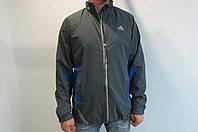 Мужская спортивная куртка Adidas 39214-1 серо голубая код 190б