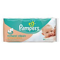 Влажные салфетки Pampers Natural Clean 64 шт. - 33371