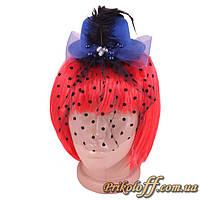 Шляпка женская на заколке, синяя
