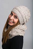 Комплект. Женская шапка и шарф-петля Майя