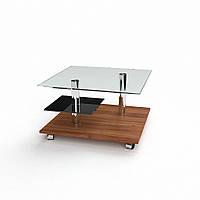 Журнальный столик стекло + дсп модель Юпитер