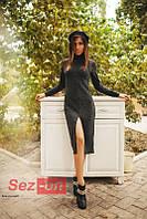Платье женское ангоровое - Серый