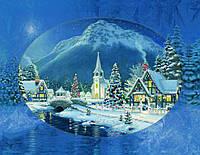 Вышивка бисером Зимняя сказка (Городской пейзаж)