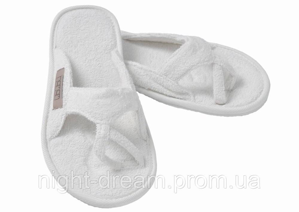 Тапочки из хлопка  MEYZER от Hamam WHITE размер 42-43