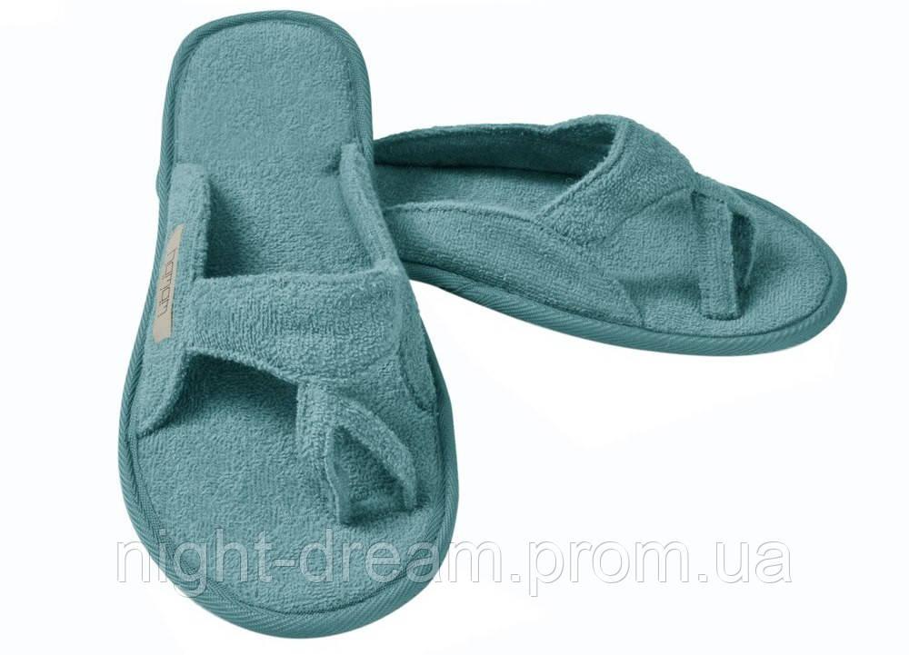 Тапочки из хлопка  MEYZER от Hamam голубые размер 42-43