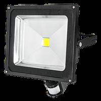 Светодиодный прожектор для наружного освещения Bellson Slim 50W с датчиком движения