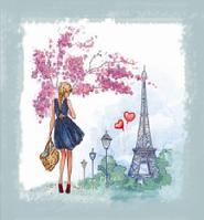 Вышивка бисером Весна в Париже (Люди)