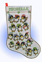 """Набор для вышивки крестом """"Пингвины на коньках"""" (Skating Penguin)"""