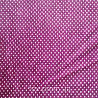 Трикотажное полотно велюр хб/пэ, горох на фиолетовом