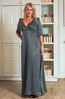 Платье нарядное атласное 50-60