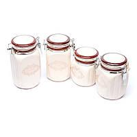 Емкости для сыпучих для кухни 4 предмета керамика 246
