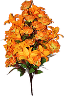 Искусственные цветы - Роза + лилия