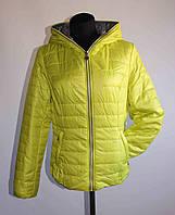Женская весенняя куртка 24035 Салатовый, 42