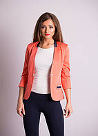 Ультрамодный молодежный пиджак кораллового цвета