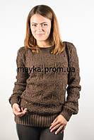 Кофта женская вязаная коричневая 46-48 AL16